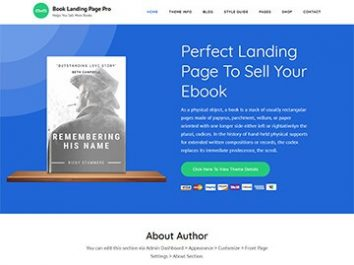 Book Landing Page Pro