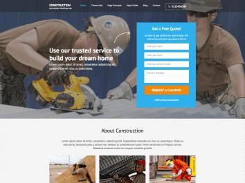 Construction Landing Page Pro