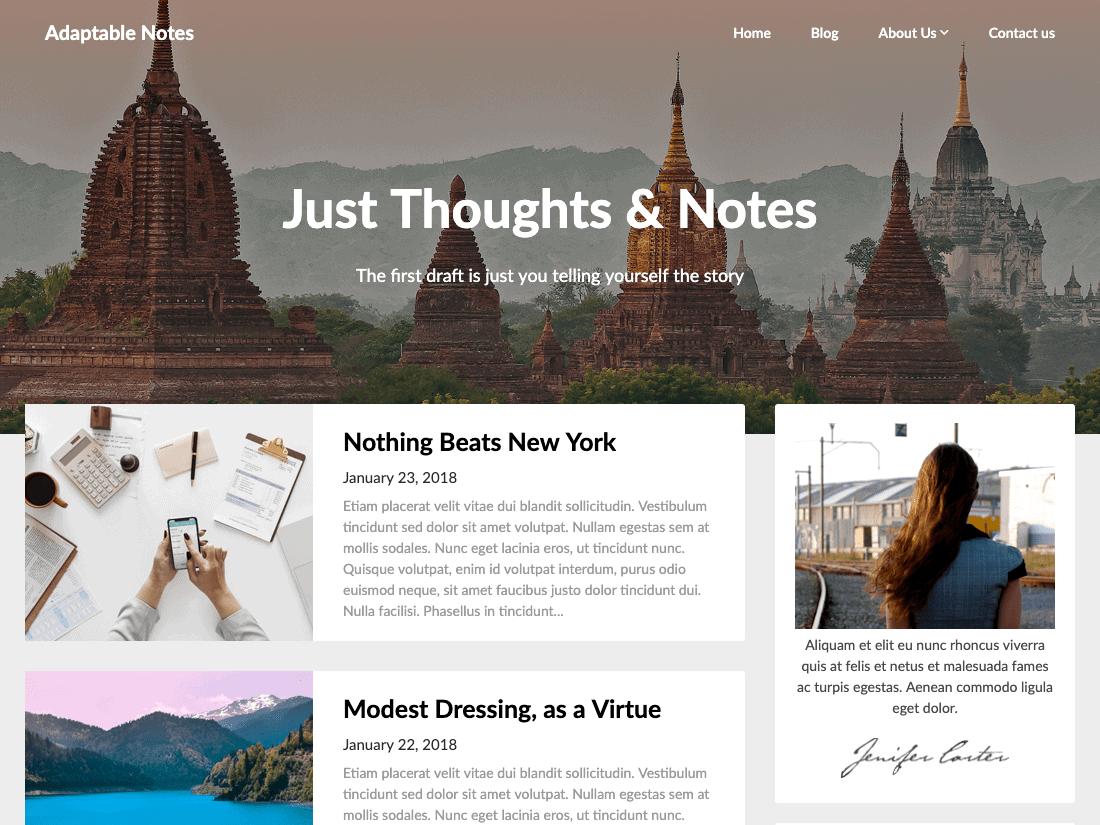 Adaptable Notes